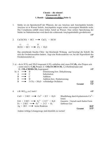 Klassenstufe 10 1. Runde – Lösungsvorschläge (Seite 1)