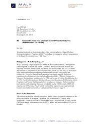 Public Comment Letter - EO Survey Extension 12-16-2005 - Maly ...