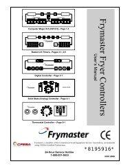 Frymaster Fryer Controllers User's Manual - MyChefStore.com