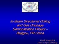 VALLEY LONGWALL DRILLING Baijigou Mine - Global Methane ...