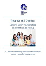 Respect and Dignity - Ethnic Communities Council of Victoria