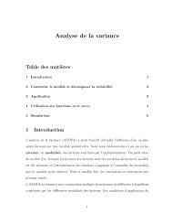 Analyse de la variance