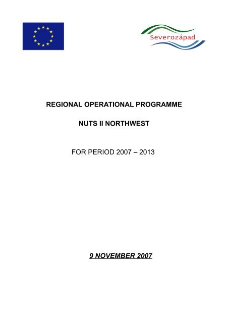 regional operational programme nuts ii northwest for period 2007