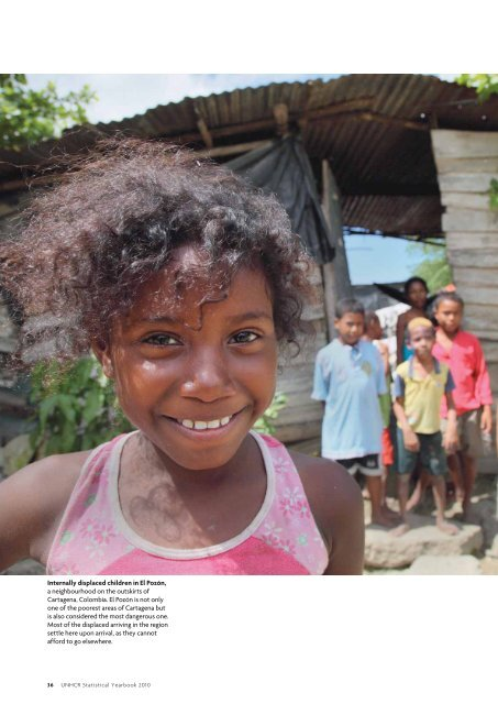 Internally displaced children in El Pozón, a ... - UNHCR