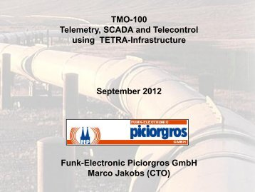 SCADA and Telemetry Solutions for TETRA infrastructures