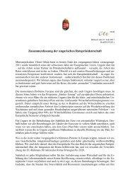 Zusammenfassung der ungarischen Ratspräsidentschaft