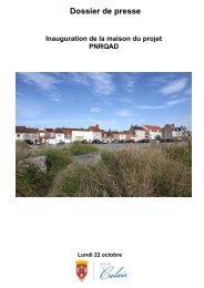 dossier de presse maison du projet PNRQAD - Ville de Calais