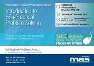 Introduction to 5S+Practical Problem Solving - SWMAS