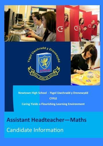 Assistant Headteacher—Maths Candidate Information
