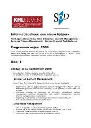 Informatiebeheer: een nieuw tijdperk - Katholieke Hogeschool Leuven