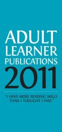 Adult Learner Publications 2011 - Scottish Book Trust
