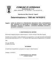 1365: gara di appalto a procedura negoziata per l`affidamento del ...