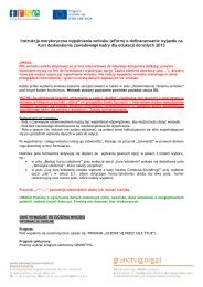 Instrukcja merytoryczna wypełnienia wniosku (eForm) o ... - Grundtvig