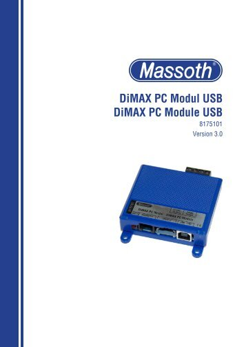 DiMAX PC Modul USB DiMAX PC Module USB - Massoth