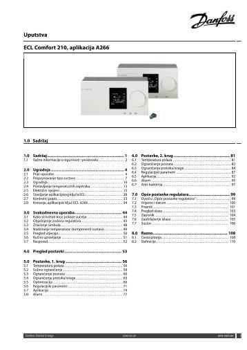 ECL Comfort 210, A266 Installation Guide - Danfoss.com