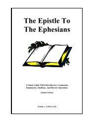 The Epistle To The Ephesians - Executable Outlines