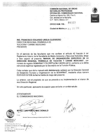 COMISIÓN NACIONAL DE ÁREAS - Conanp