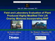 Field and Laboratory Evaluation of Plant Produced Highly-Modified ...