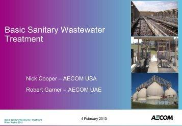 Basic Sanitary Wastewater Treatment - Saudi Arabian Water ...