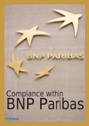 Compliance within - BNP Paribas