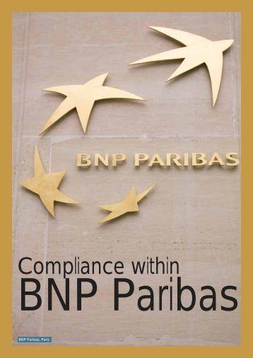 Compliance within - BNP Paribas