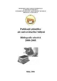 publicatii 2000-2005 varianta final - Biblioteca Ştiinţifică a ...
