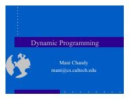 Dynamic Programming I - Caltech