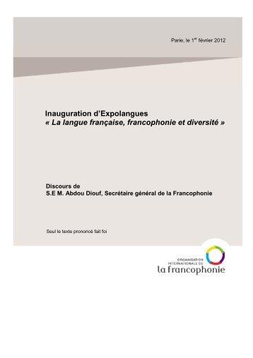 Discours d'Abdou Diouf - Paris, le 1er février 2012 (pdf)