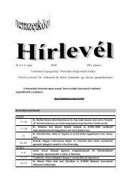 II. évf. 4. szám BME 2001. június 1. Tudományos Igazgatóság ...