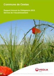 Rapport délégataire sur l'assainissement 2010 - Mairie de Cestas