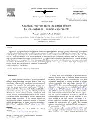 Uranium recovery from industrial effluent by ion exchange ... - CDTN