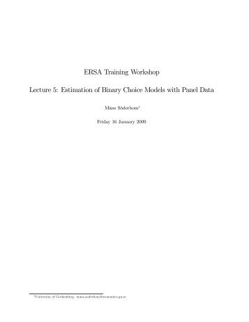 Estimation of Binary Choice Models with Panel Data