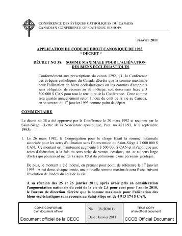 Document officiel de la CECC CCCB Official Document