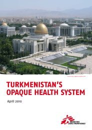 Turkmenistan's opaque health system