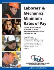Laborers' & Mechanics' Minimum Rates of Pay - AGC of Alaska