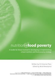 food poverty nutrition+ - Agencies for Nutrition Action