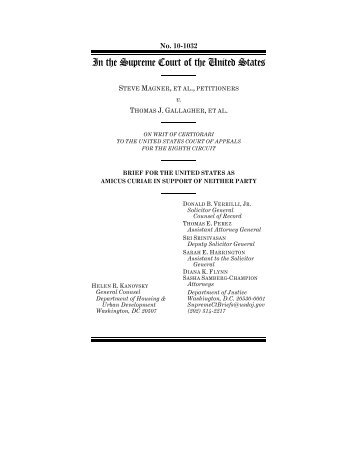 Amicus Brief of the U.S. Solicitor General