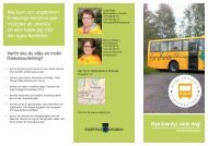 Broschyr om förskolebussen - Enköping