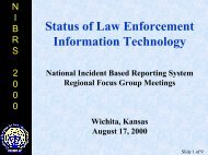 Status of Law Enforcement Information Technology - SEARCH ...