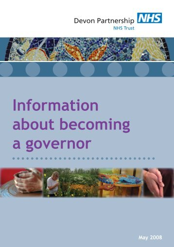 Information about becoming a governor - Devon Partnership NHS ...