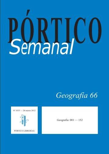 Portico Semanal 1035 Geografia 66 - Pórtico librerías