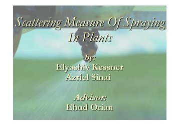 Scattering Measure Of Spraying In Plants - SIPL