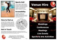 Venue hire leaflet 2012 - Leicester YMCA