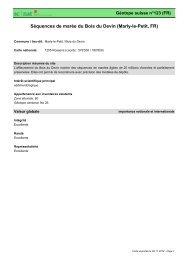 Séquences de marée du Bois du Devin (Marly-le-Petit, FR) - admin.ch