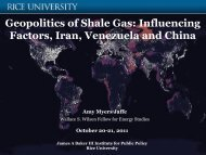 Geopolitics Of Shale Gas - James A. Baker III Institute for Public Policy