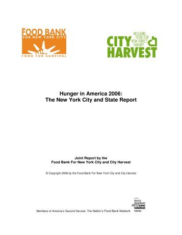 The New York City and State Report - Hunger Action Network in NYS