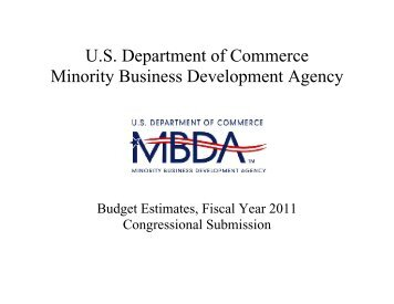 US Department of Commerce Minority Business Development Agency