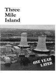 The Accident - Three Mile Island