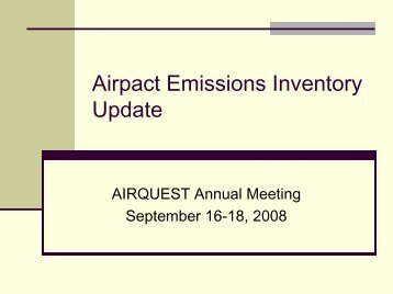 Airpact Emissions Inventory Update