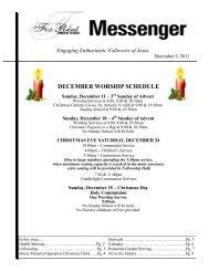 December 2, 2011 Messenger - Fox Point Lutheran Church